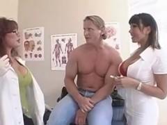 Patient Fucks Hit Busty MILF Nurse & Doctor