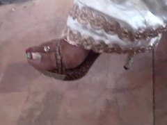 Feet at party