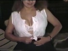 My depraved wife flashes her private parts outdoors