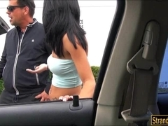 Pretty Latina Mia Hurley hitch hikes and banged in back alley