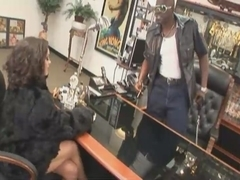Hot woman Liza Del Sierra fucks with big black cock in her office