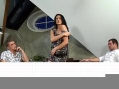 Sexy babe loving steamy anal threesome