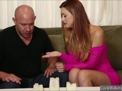 Hot busty masseuse Karlie Montana tastes all the jizzum
