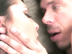 Skinny brunette Sabrina Banks cheats on her boyfriend with a hung stud
