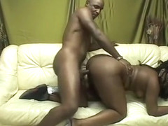 Glamorous chocolate whore gives guy nice pole dance and fucks him afterwards