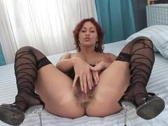 Amazing pornstar in crazy dildos/toys, redhead adult movie