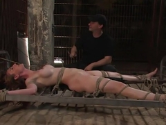 Hot Redheaded Prisoner Made to endure multiple orgasms