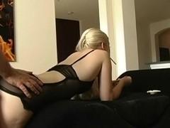 Crazy smoking movie with blonde, couple scenes