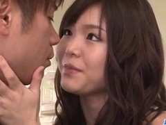 Megumi Shino gets jizzed after a wild fuck experience