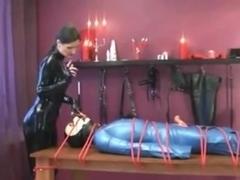 tied up slave milked