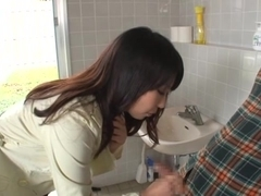 Yui Tanaka hot Asian milf in red lingerie gets hot rear fucking