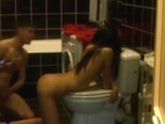 Homemade Fuck in the Bathroom with Tall immature