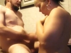 Chubby milf blows and titfucks her man ending with a tit cumshot