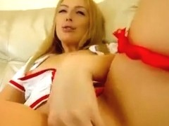 Blonde Whitepuma777 in nurse costume
