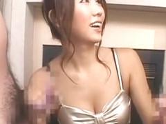 Exotic Japanese model Shiori Tsukumi in Hottest Threesomes JAV movie