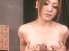 Fabulous Japanese model Emi Harukaze in Horny POV, Blowjob/Fera JAV scene