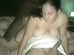White whore gets seeded doggystyle by a black bull while sucking hubby's cock
