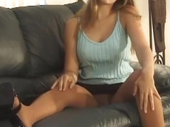 Long legs nylon tease
