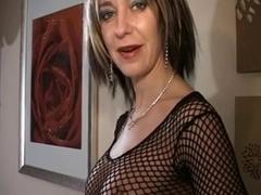 Hott dominatrix-bitch makes him bust three times