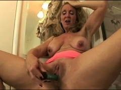 older playing with vibrator