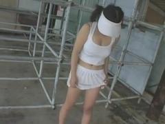 KONNO Youka plays tennis