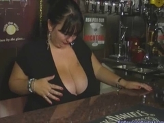BRITISH AGED MEGA BOOBED BARMAID