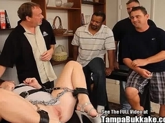 Chained Slut Bukkake Bondage Anal Blast