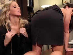 Julia Ann and Taylor Vixen - Behind the Bench