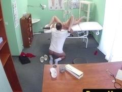 Cocksucking patient sprayed with doctors cum