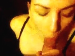 Adorable italian girlfriend hawt blow and facial