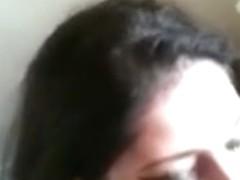 Secretary in Toilet Boss ask her to suck Shlong