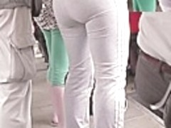 Brawny arse in constricted panties