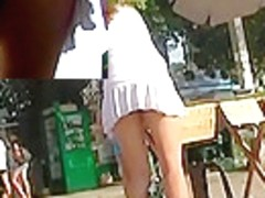 Random street gal upskirt panty