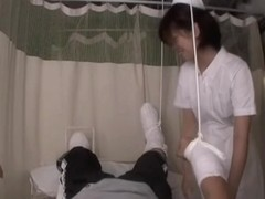 Kinky asian nurse sucks her patient's hot rod in porn movie