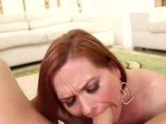 Hottest pornstars Mark Wood, Katja Kassin in Incredible Redhead, Blowjob sex scene