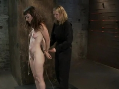 Made to Squirt! Made to Deep Throat!Flogged until her body and ass are marked and bright red!