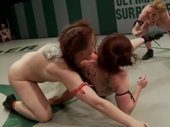 Biggest loser Gang Bang. Darling gets fucked by her own team mate