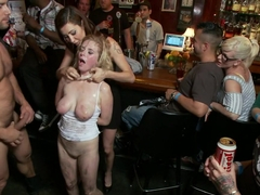 Tiny Blonde tied up and Ass Fucked in Public