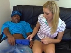Kylee Reese can't lose a chance to swallow a big black cock
