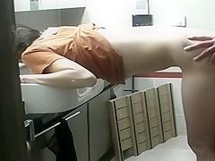 Bathroom fuck by amateur couple