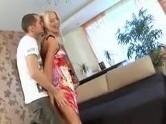 Stunning Russian chicks suck cock and get fucked