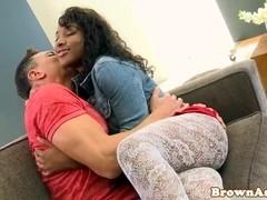 Ebony booty babe Marri Coxz cockriding
