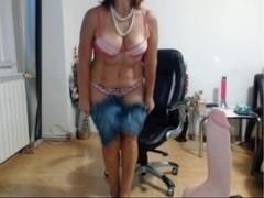 Kim strips and masturbates so sexy