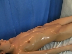 Youthful dark brown screwed during a massage