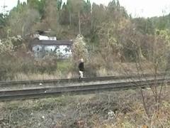 Old Couple Fucking Railway Slut (No Sound)