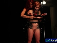 Restrained ### whipped and toyed
