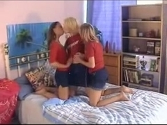 Blonde dykes in hot Sapphic threesome