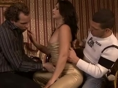 Jessica Fiorentino fucked by two employers
