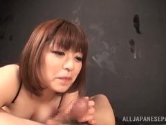 Sweet ass chick Marie Momoka Japanese big tits pleasures