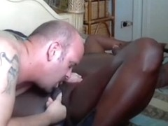 White guy eats out his black gf's pussy for 30 minutes